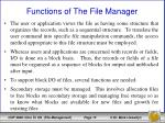 functions of the file manager1