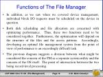 functions of the file manager2