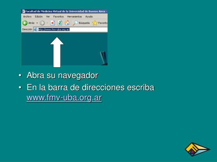Abra su navegador