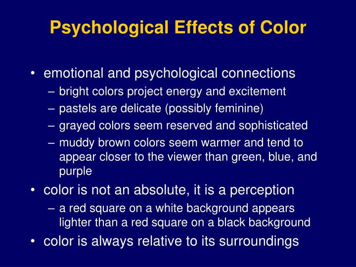 Psychological Effects of Color