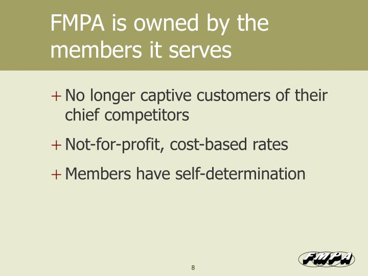 FMPA is owned by the members it serves