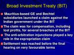 broad investment treaty bit
