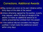 corrections additional awards