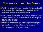 counterclaims and new claims1