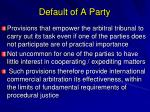 default of a party1