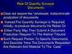 role of quantity surveyor documents