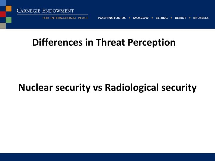 Differences in threat p erception