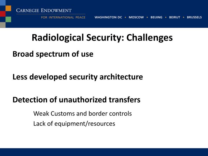 Radiological Security: Challenges