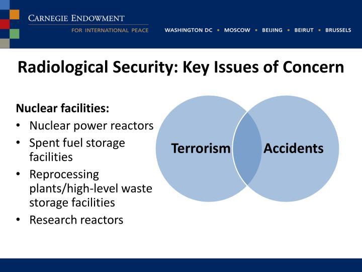 Radiological security key i ssues of concern