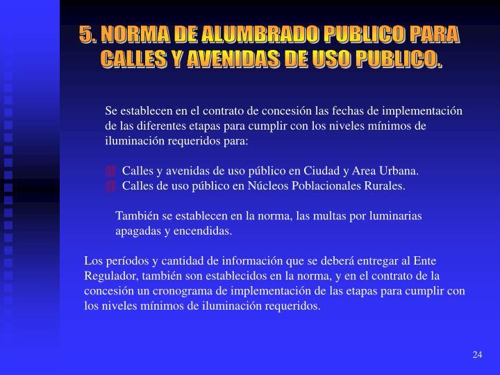 5. NORMA DE ALUMBRADO PUBLICO PARA