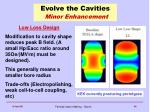 evolve the cavities minor enhancement