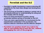 fermilab and the ilc