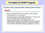 fermilab ilc scrf program