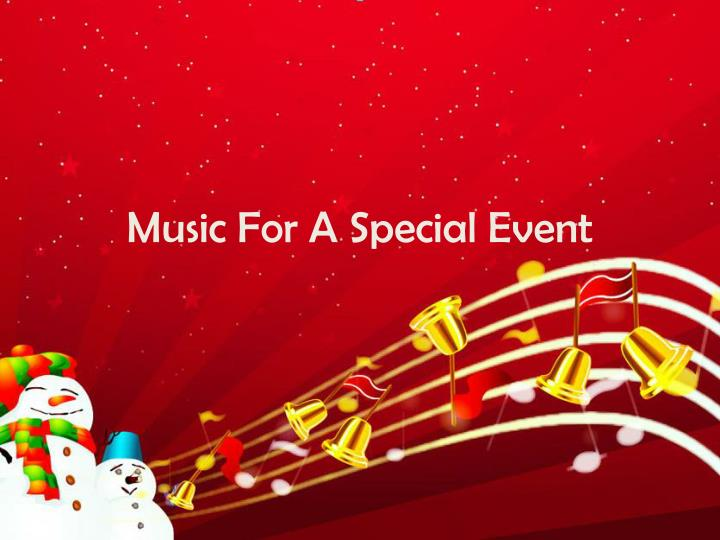 music for a special event