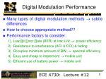digital modulation performance
