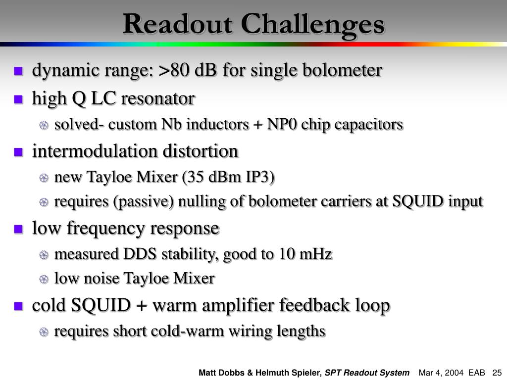 PPT - The South Pole Telescope Readout System PowerPoint