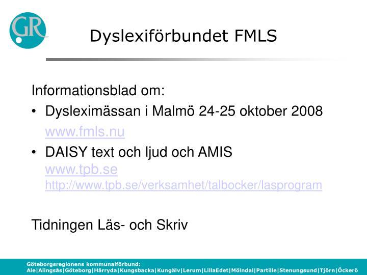 Dyslexiförbundet FMLS