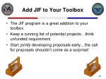 add jif to your toolbox
