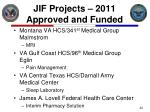 jif projects 2011 approved and funded1