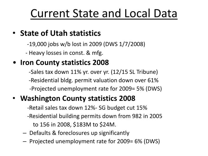 Current State and Local Data
