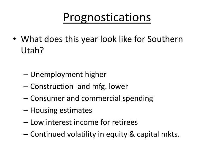Prognostications