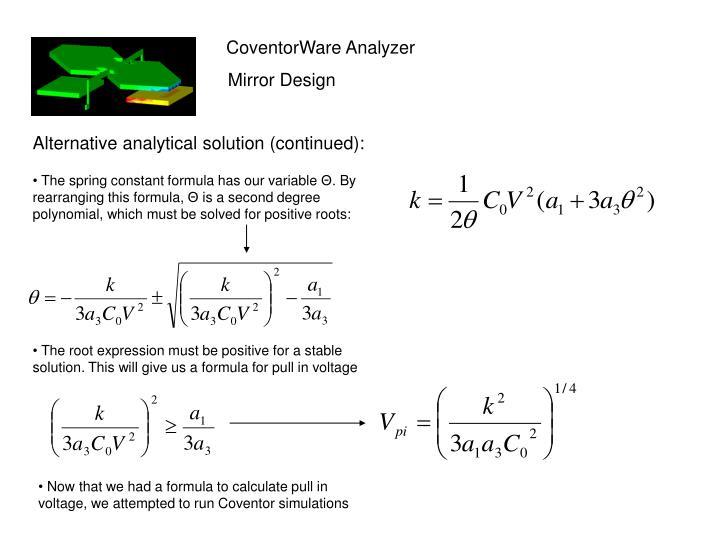 CoventorWare Analyzer