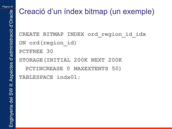 Creació d'un índex bitmap (un exemple)