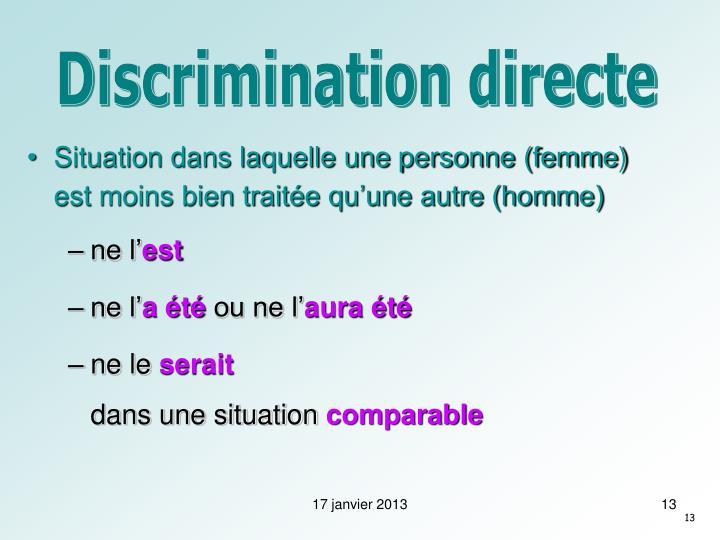 Discrimination directe
