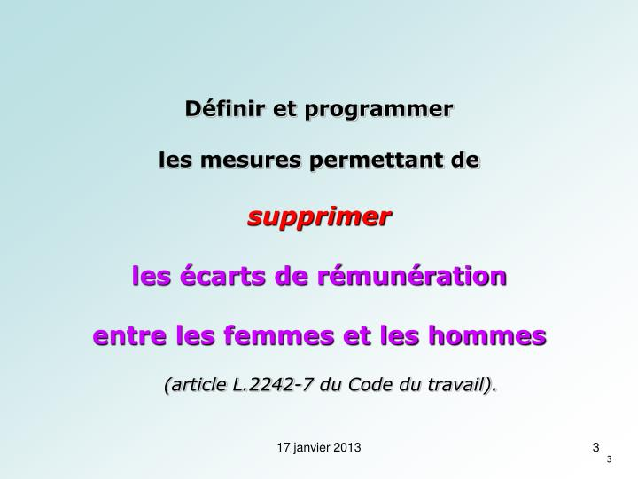 Définir et programmer