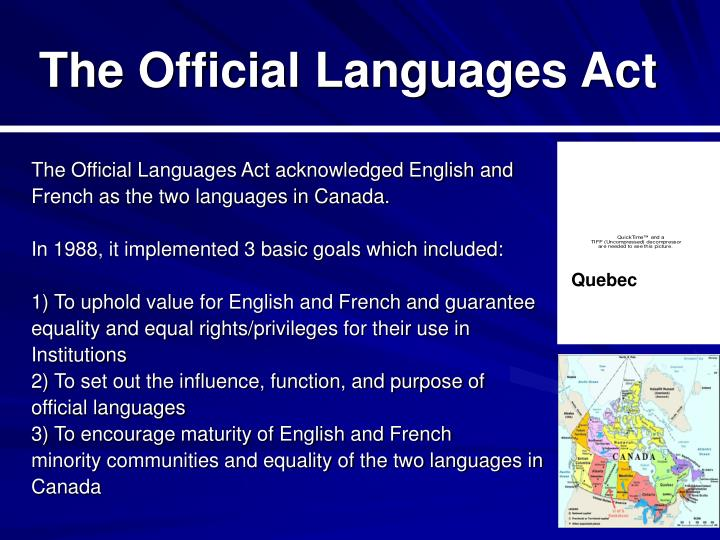 The Official Languages Act