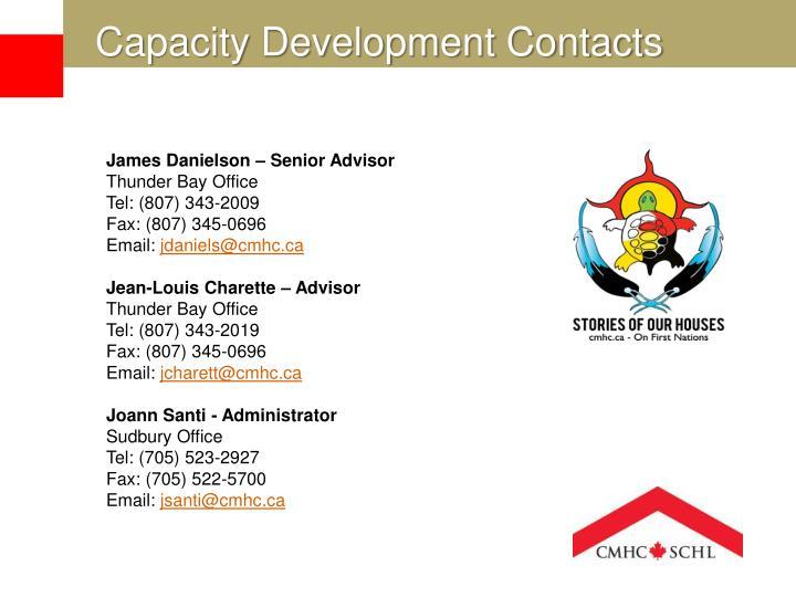 Capacity Development Contacts