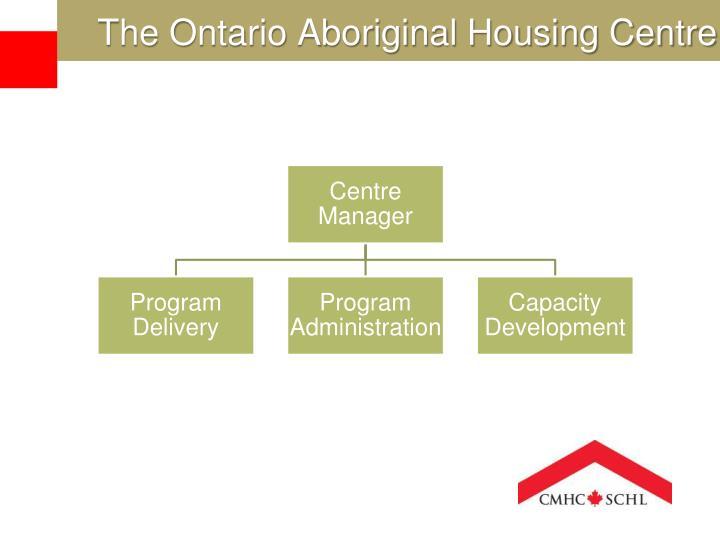 The ontario aboriginal housing centre