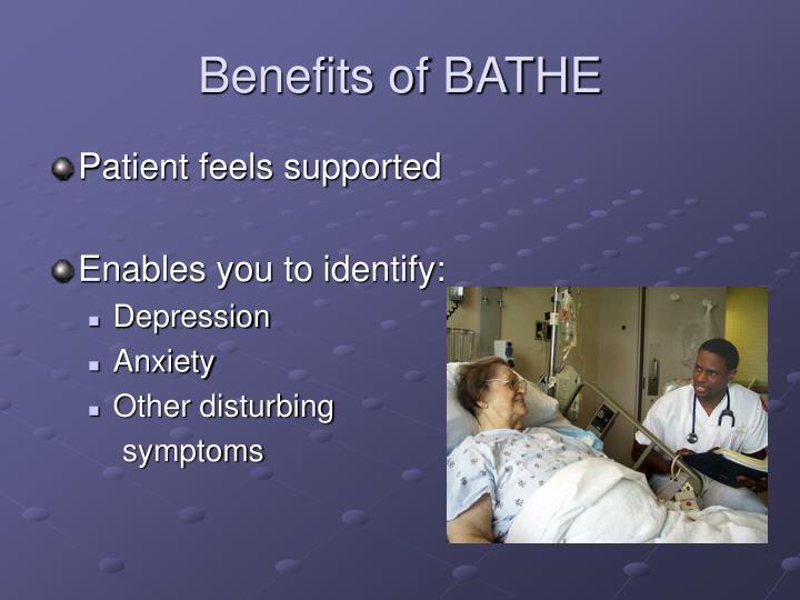 Benefits of BATHE