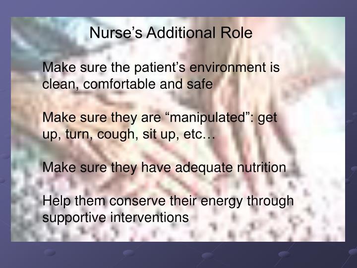 Nurse's Additional Role