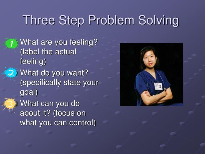 Three Step Problem Solving