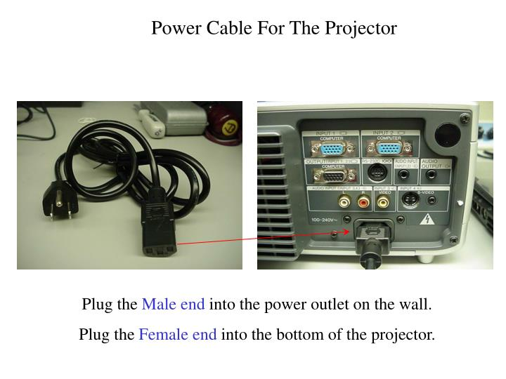 Power Cable For The Projector