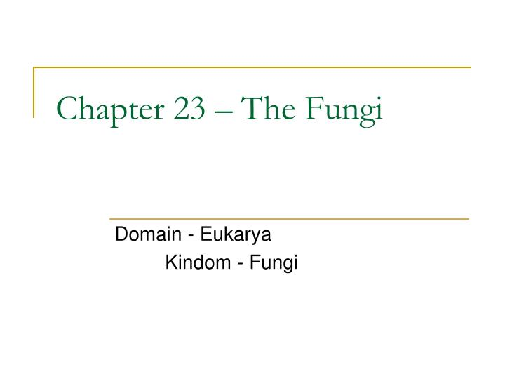 chapter 23 the fungi n.