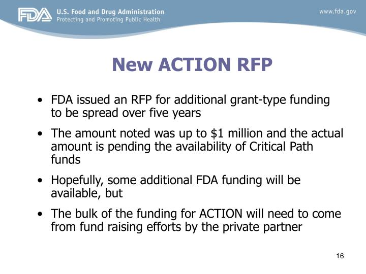 New ACTION RFP