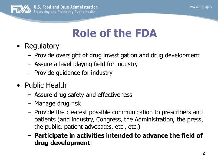 Role of the fda