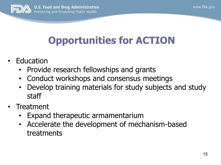 Opportunities for ACTION