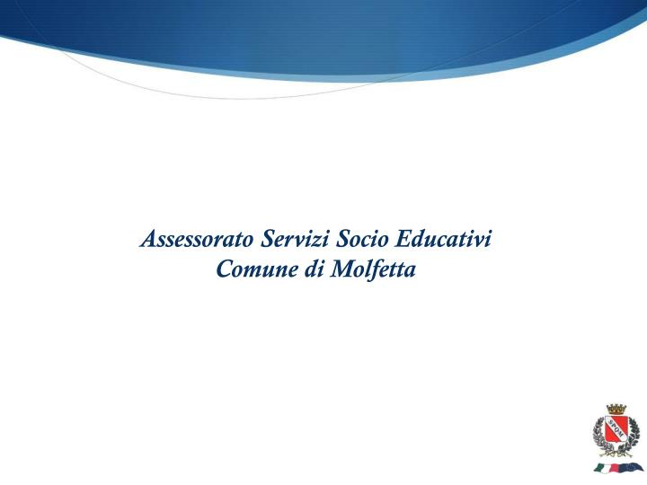 Assessorato Servizi Socio Educativi