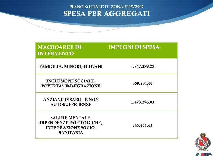PIANO SOCIALE DI ZONA 2005/2007