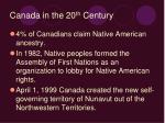 canada in the 20 th century