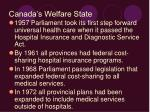 canada s welfare state