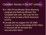canadian society in the 20 th century
