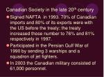 canadian society in the late 20 th century