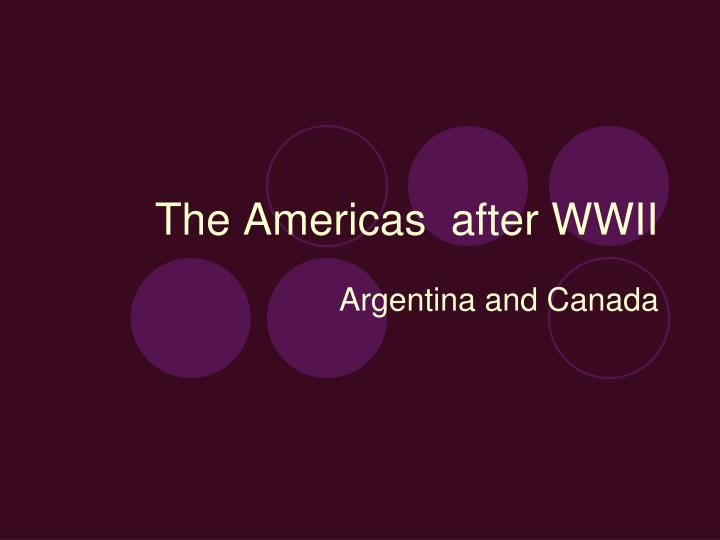 the americas after wwii