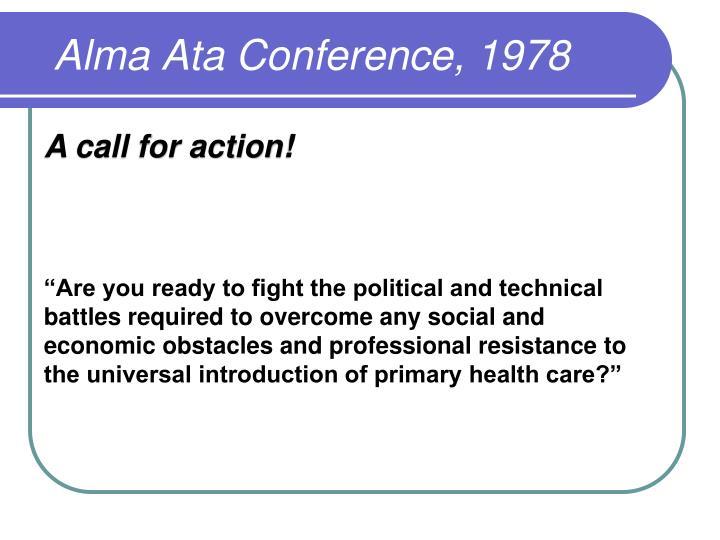 Alma Ata Conference, 1978