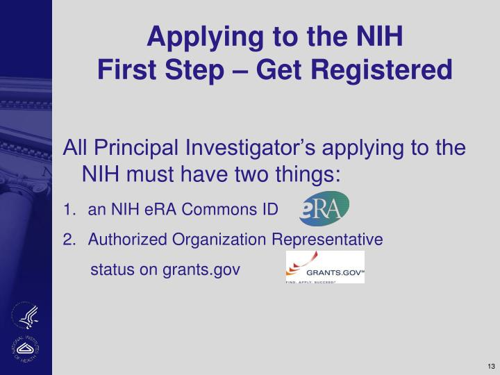 Applying to the NIH