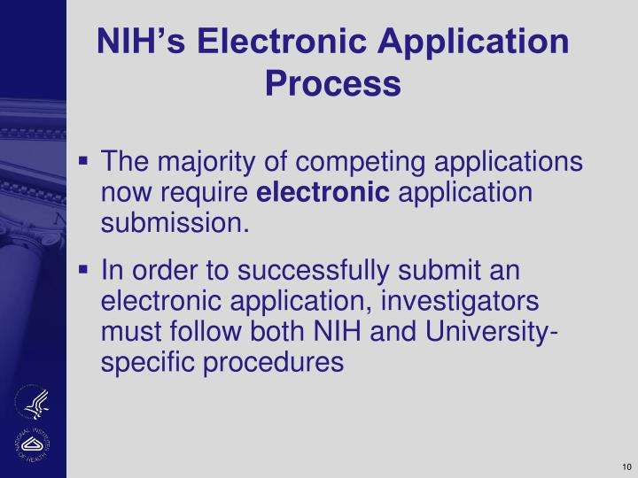 NIH's Electronic Application Process